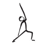 stick figure drawing of exalted warrior pose