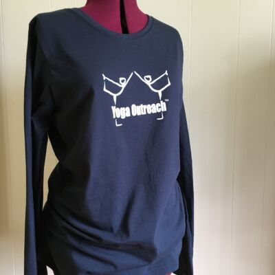 navy org. cotton long sleeved tee